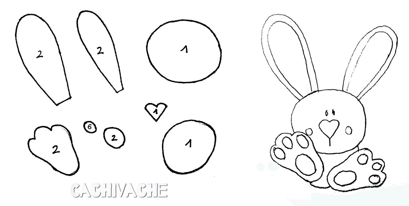 Patrones Dibujos De Navidad En Foami.Manualidades Conejo Con Moldes Blog De Imagenes