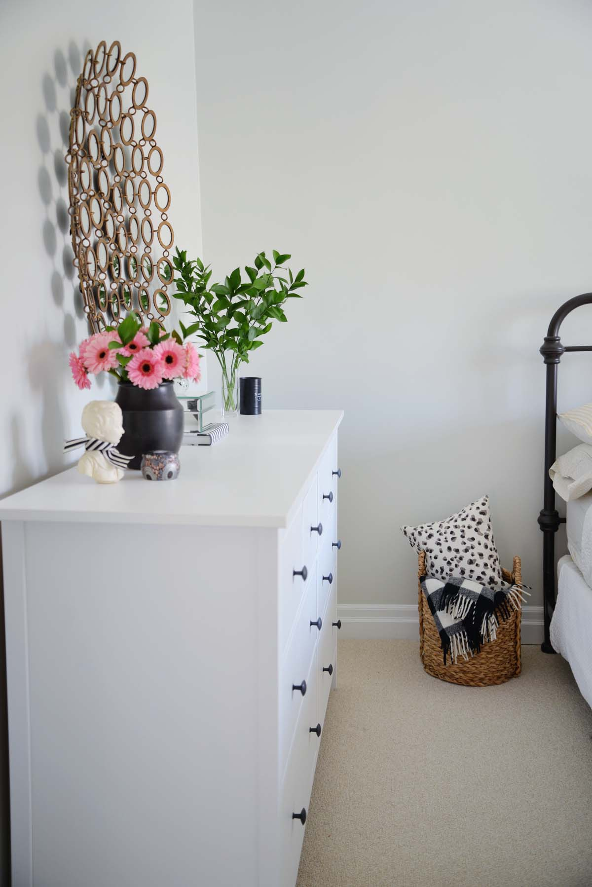 neutral guest bedroom, farmhouse guest bedroom