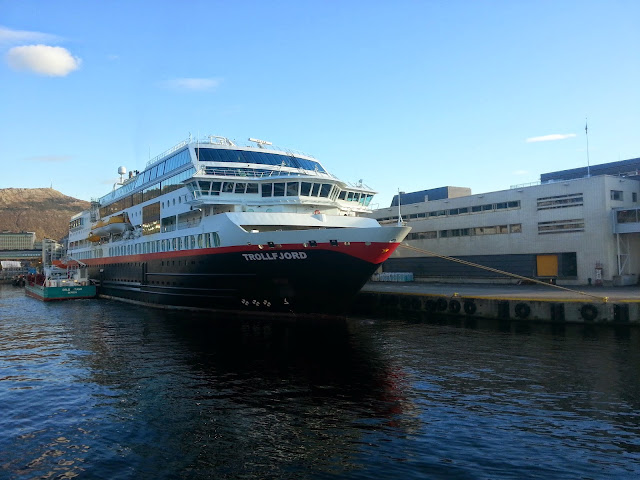 Hurtigruten MS Trollfjord in Bergen, Norway