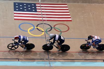 Ray Gildea, Brian Moore, Dennis Pedersen team sprint. Photo by Tom Kimmel.