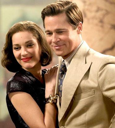 Foto de Brad Pitt muy feliz junto a Marion Cotillard