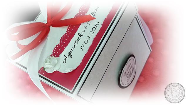 Strażackie zamówienie – ślubny exploding box w ozdobnym opakowaniu i kartka w komplecie