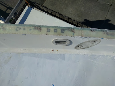 Hull/Deck Joint Glassed, Too Late for Paint, Forward Head
