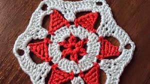 Hexágono al crochet con patrón