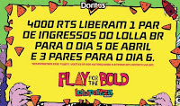 Promoção Doritos Play for the Bold no Loolapalooza