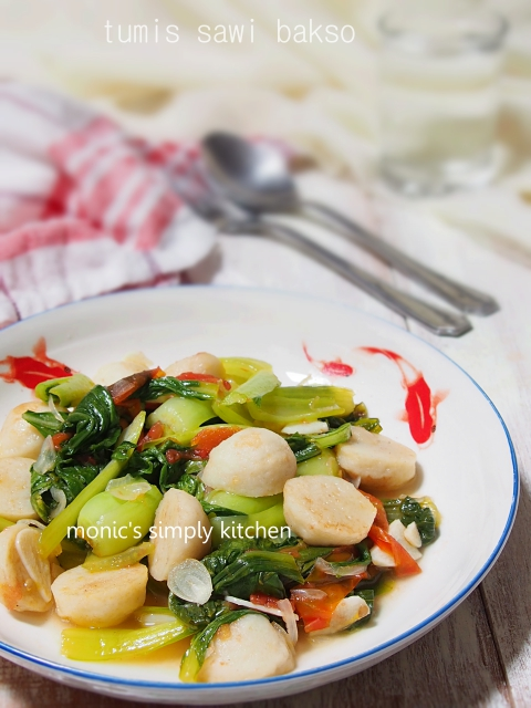 Tumis Sawi Minyak Bakso Ikan Monic S Simply Kitchen
