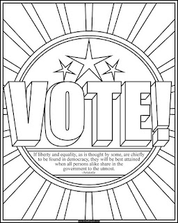 Vote! coloring page with an Aristotle quote  #coloring #elections #voting