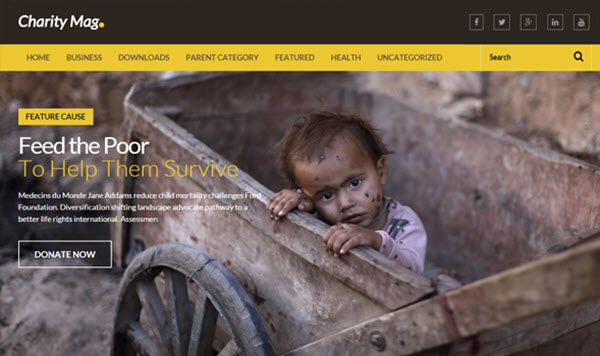 Giao diện blogger Charity Mag