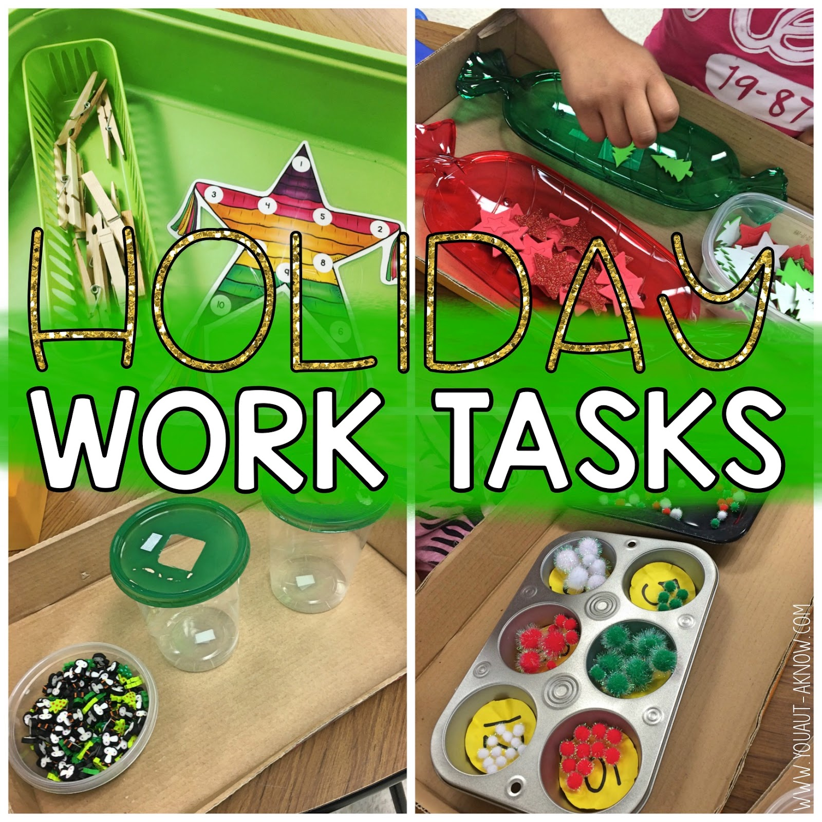 Holiday work tasks are my favorite in my Autism Classroom. These are perfect for structured work time or any time when you're working on task boxes!