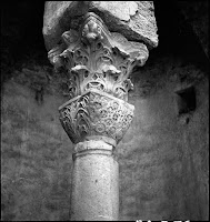 Cistern Ipek Bodrum, detail of column, May 1937 [Credit: © Nicholas V. Artamonoff Collection, Image Collections and Fieldwork Archives, Dumbarton Oaks]