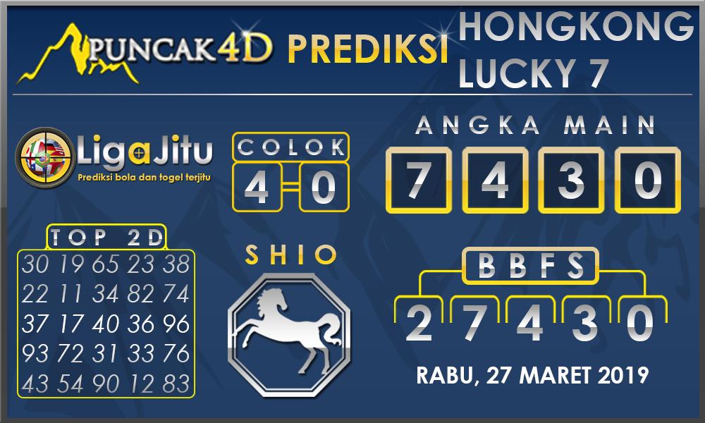 PREDIKSI TOGEL HONGKONG LUCKY7 PUNCAK4D 27 MARET 2019