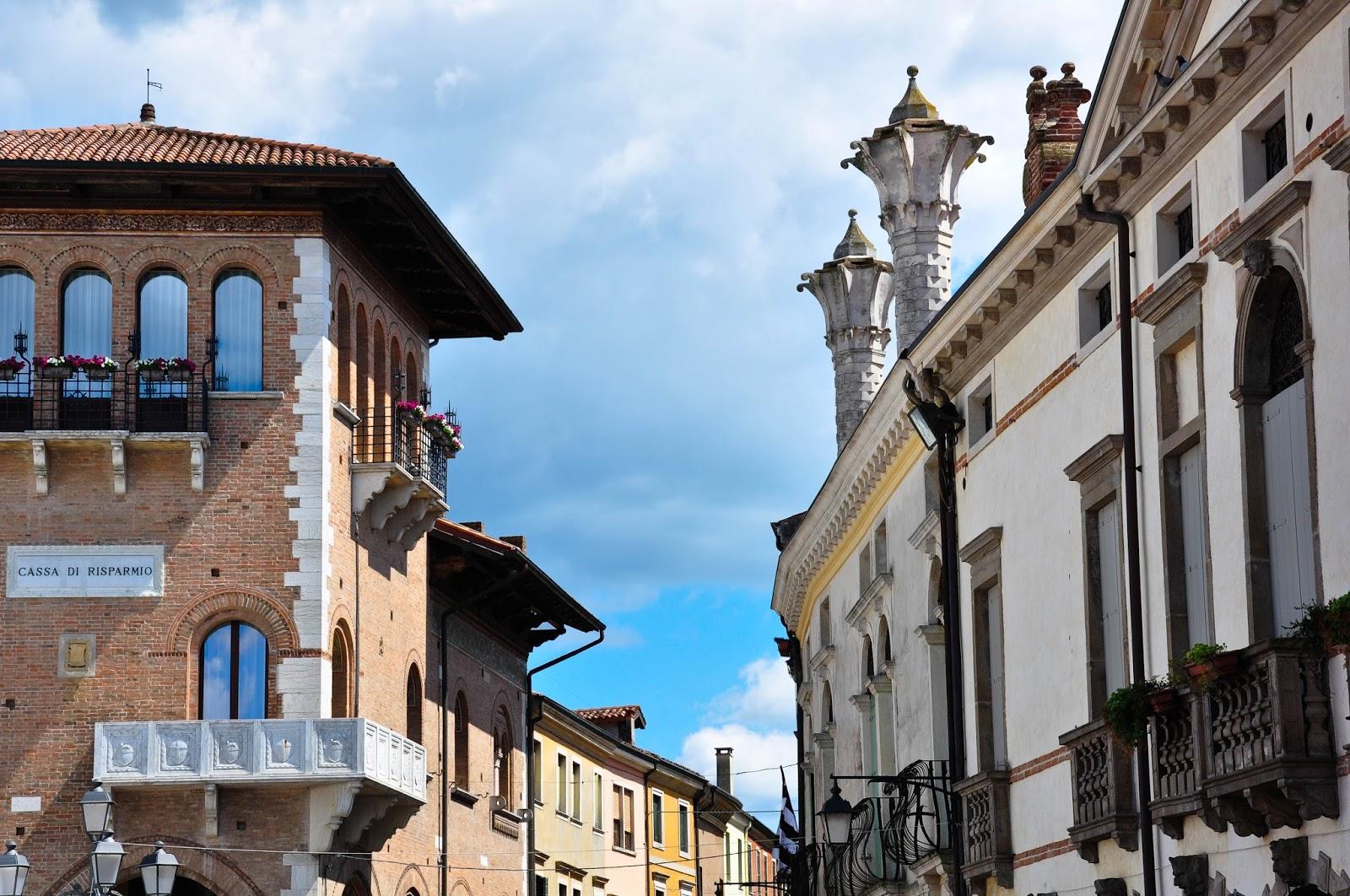 Houses in Montagnana, Veneto, Italy