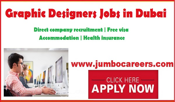 Dubai graphic designer jobs for Indians, Current Dubai jobs with benefits,