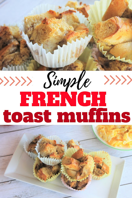 French toast muffins make a quick and delicious breakfast to go.  Perfect for busy school days or lazy weekend mornings.