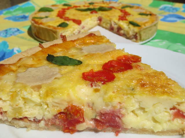 Tarta caprese (Tomate y albahaca) Ana Sevilla