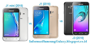 Samsung Galaxy J edisi 2016 J1 mini vs J1 vs J3 Harga dan Spesifikasi