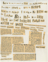 Crank Letter - Newspaper clippings