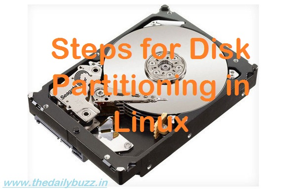 Steps for Disk Partition in Linux