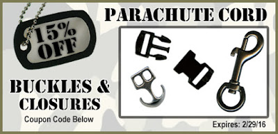 CODE: BUCKLEUP16 gets you 15% off all closures from ParachuteCordCraft.com
