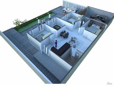 Modern desain rumah minimalis 2021