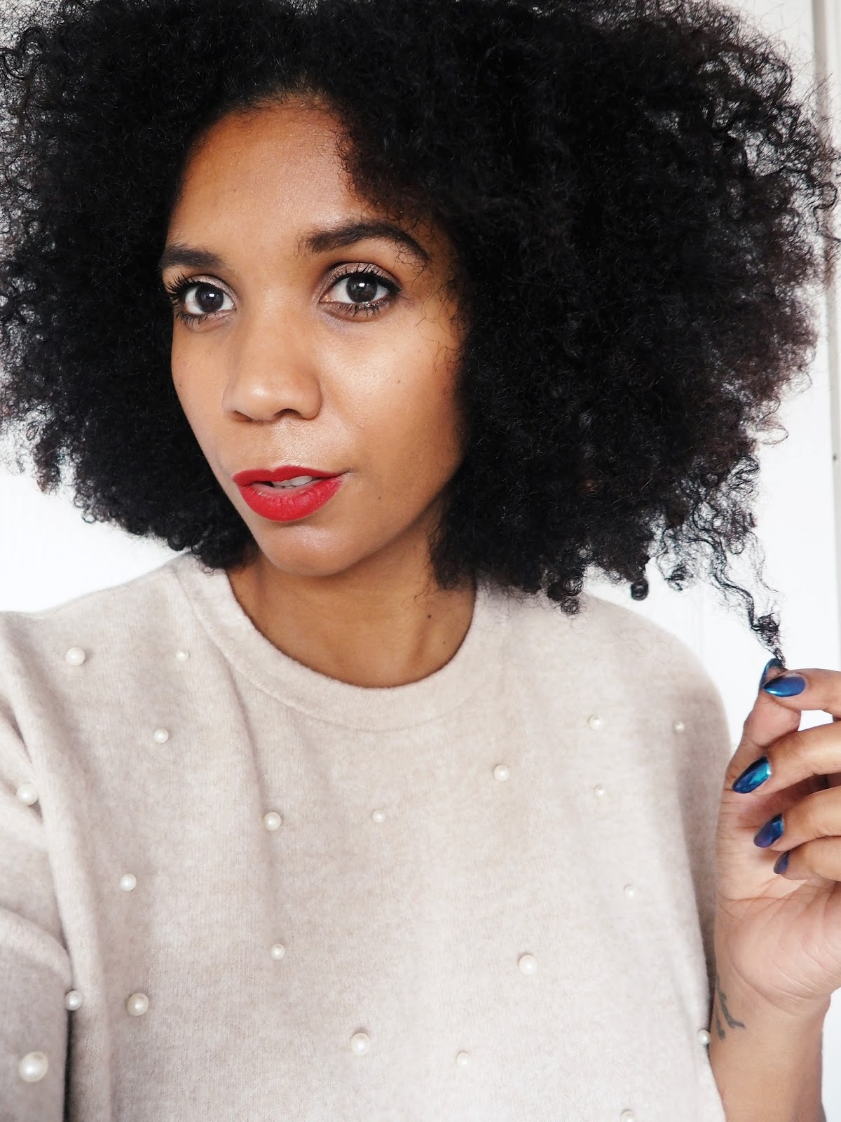 curly afro hair uk blogger