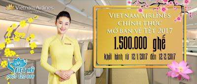 Vietnam Airlines chính thức mở bán vé máy bay Tết 2017