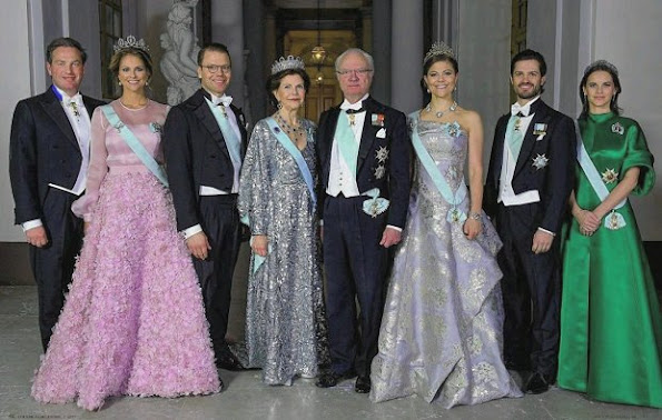 Queen Silvia, Princess Madeleine, Princess Sofia, Crown Princess Victoria, Prince Carl Philip, Christopher O'Neill, Prince Daniel, Princess Estelle, Princess Leonore