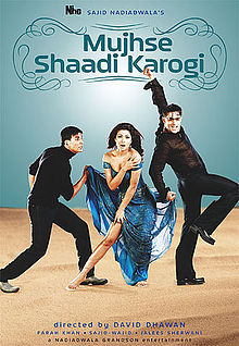 Poster Of Mujhse Shaadi Karogi 2002 720p Hindi BRRip Full Movie Download