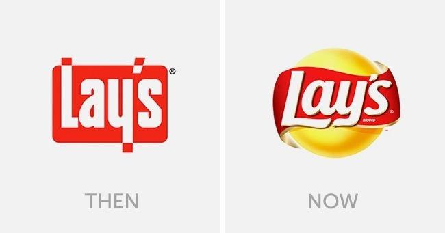 logo lays dulu dan sekarang