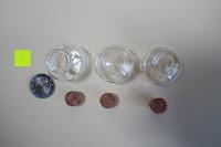 oben: SET Mini-Fläschchen aus Echtglas mit Korken für Dekoration, Apotheker-Fläschchen / Spundflasche, zur Aufbewahrung kleiner Mengen oder als Puppenfläschchen / Dekoration / Basteln / Korken-Flaschen - Marke Ganzoo (3er SET L (20ml))