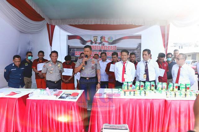 Polisi Amankan 24 Kg Sabu & 695 Butir Ekstasi
