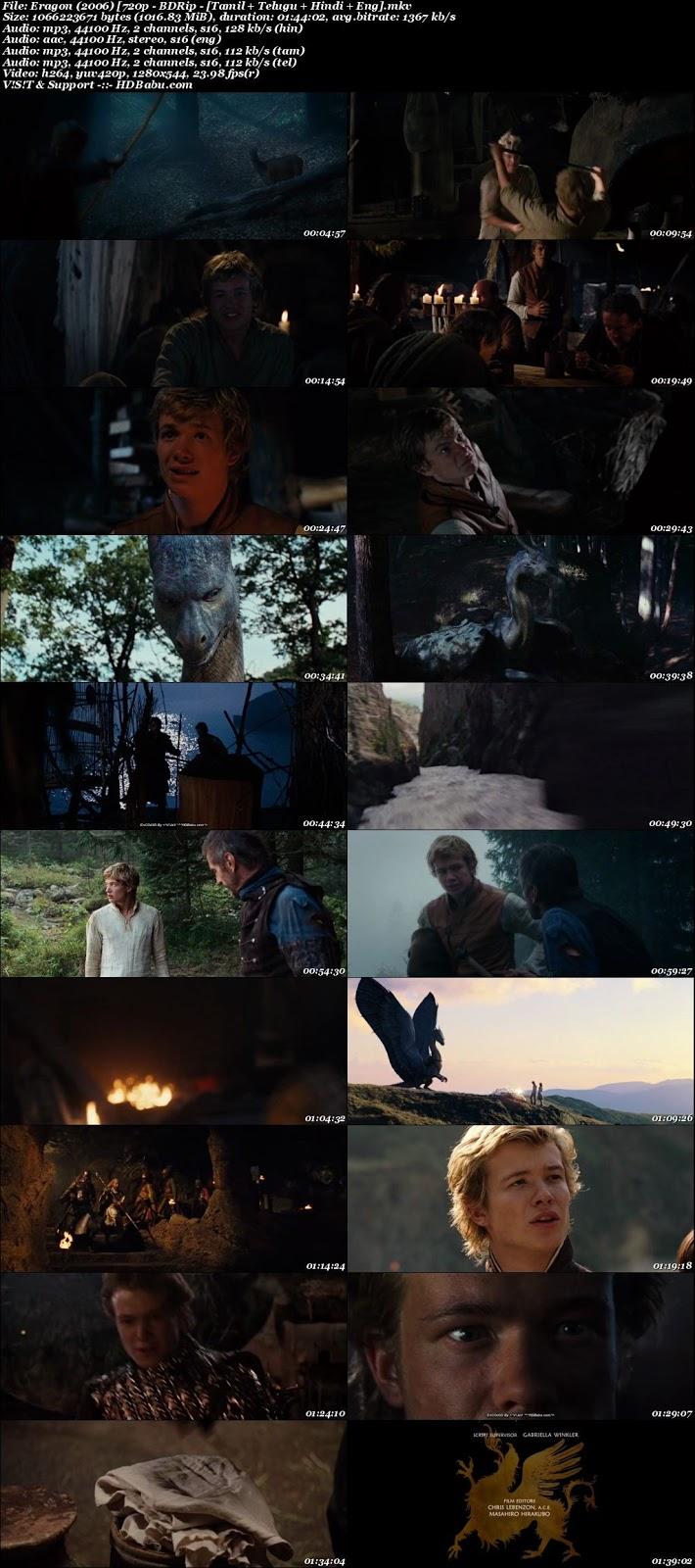 Eragon (2006) [720p - BDRip - [Tamil + Telugu + Hindi + Eng], Eragon Hindi Dual Audio Movie Download free torrent download, watch online
