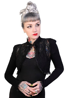 Gothic bolero shrug as used in steampunk catwoman costume womens steampunk fashion