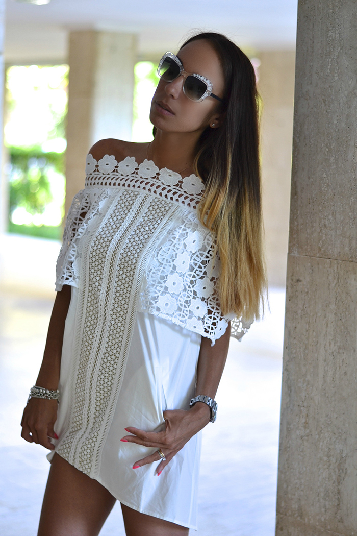 mini dress bianco