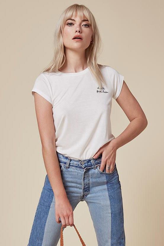 Crewneck T-shirts | Latest trendy t-shirts for girls