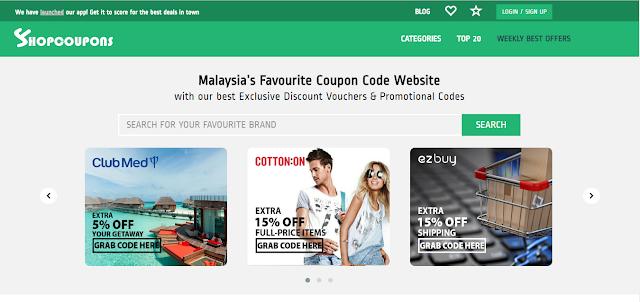 shopcoupons, kupon membeli belah online, promosi hebat