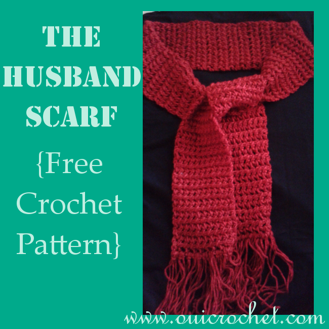 Crochet, Free Crochet Pattern, Crochet Scarf, The Husband Scarf,