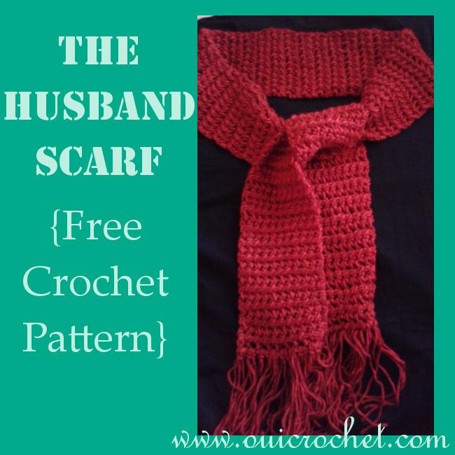 Crochet, Free Crochet Pattern, Crochet Scarf, The Husband Scarf,