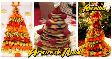 arvores de natal de comer feito com frutas e doces