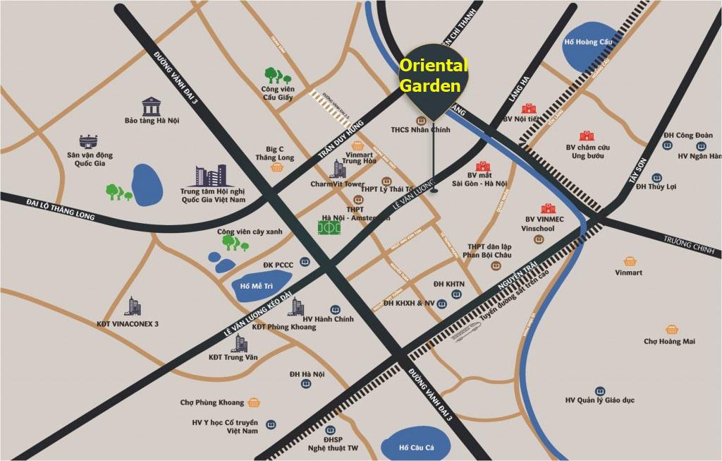Vị trí chung cư Oriental Garden 4.1 Lê Văn Lương