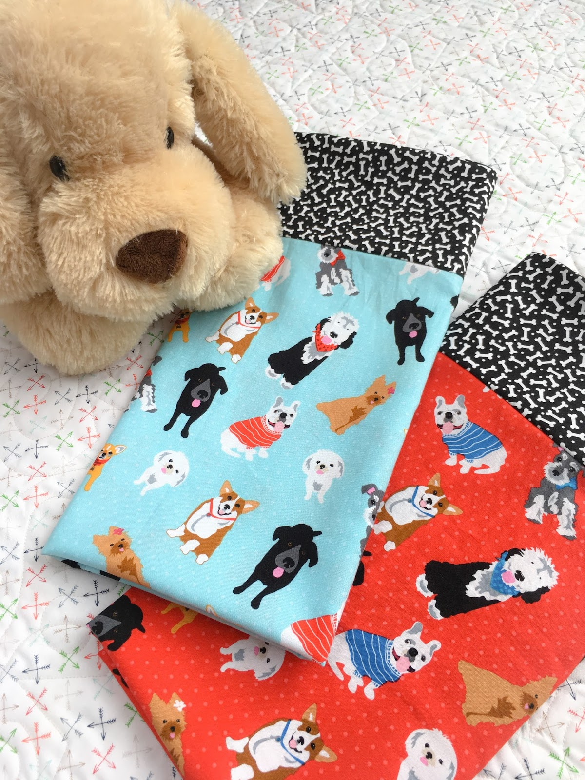 Carried Away Quilting Dog Themed Pillowcases With Quilt Girls