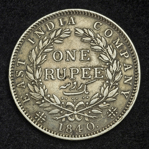 Coins Of British India One Rupee Silver Coin Of 1840 Young