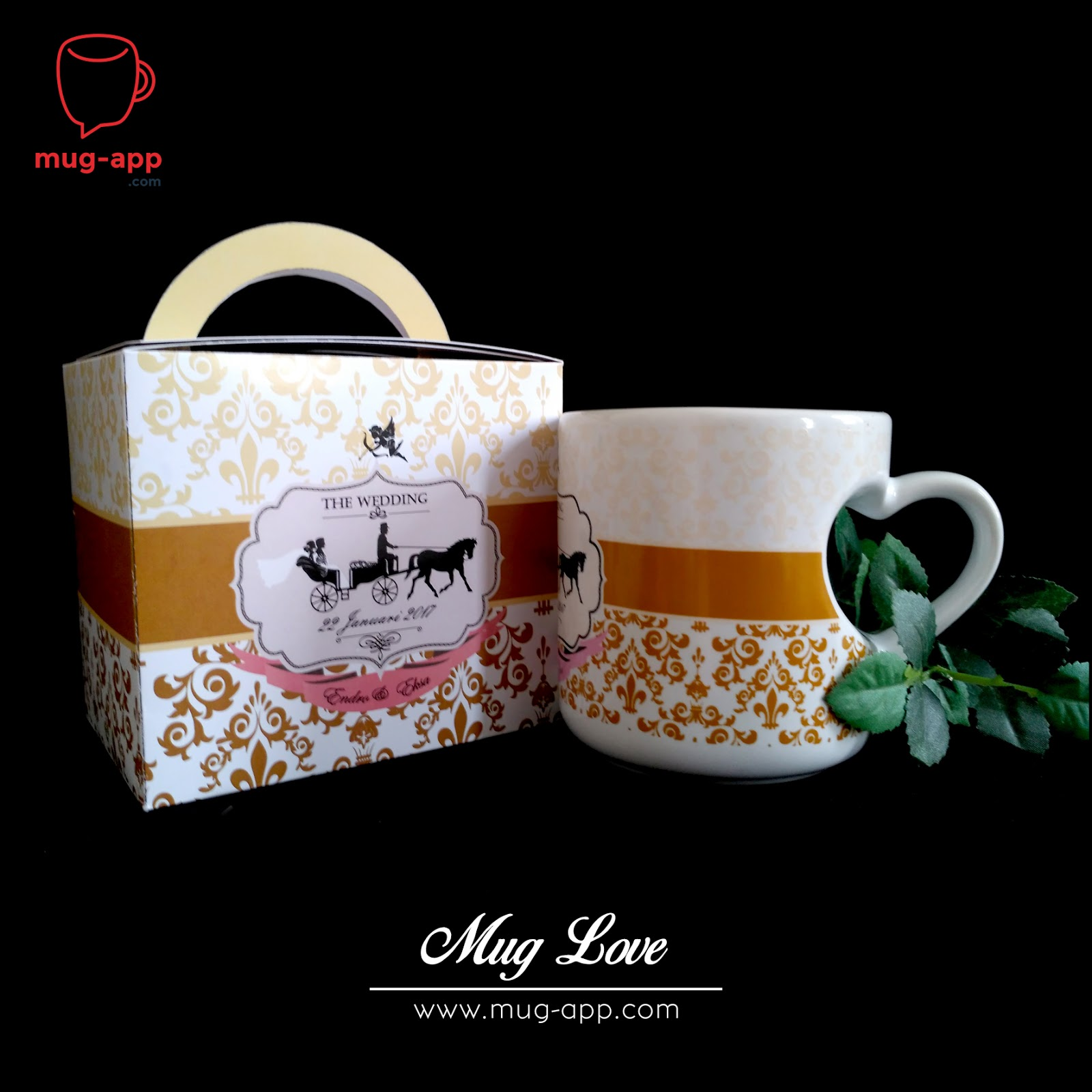 Souvenir Pernikahan Elegan Keramik Mug Printing Trend Souvenir Pernikahan Mug Yang Populer
