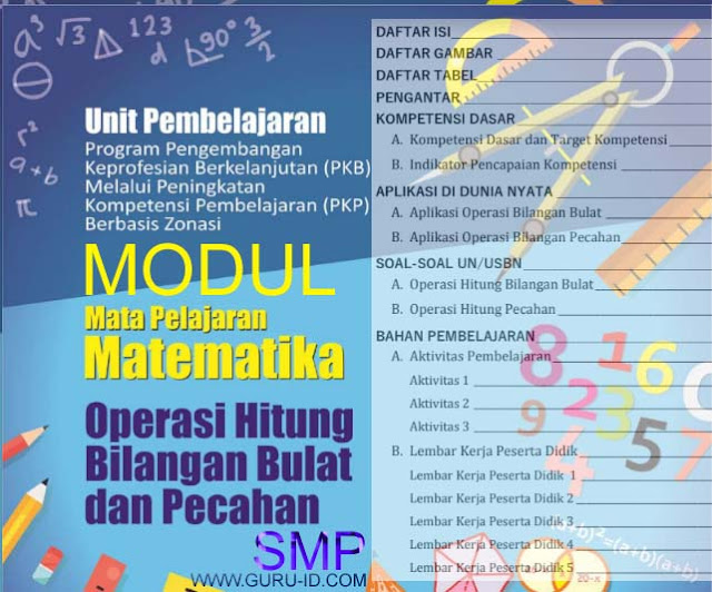 gambar modul pkp matematika SMP 2019
