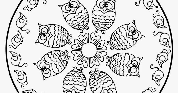 Kleurplaten Mandala Uil.Mandala S Kleurplaten Mandala Kinderen Uilen