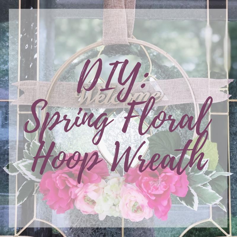 FIY Floral Hoop Wreath Tutorial