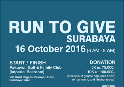 Run To Give 2016 Surabaya Pakuwon Golf Sheraton Hotel and Towers