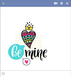 Be mine chat sticker