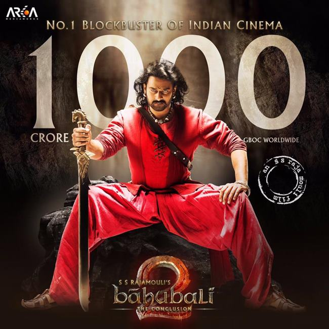 Bahubali 2 Crosses Rs. 1000 Crore Box Office Collection