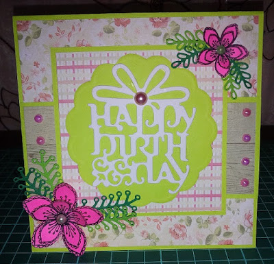 Handmade Pink Birthday Card